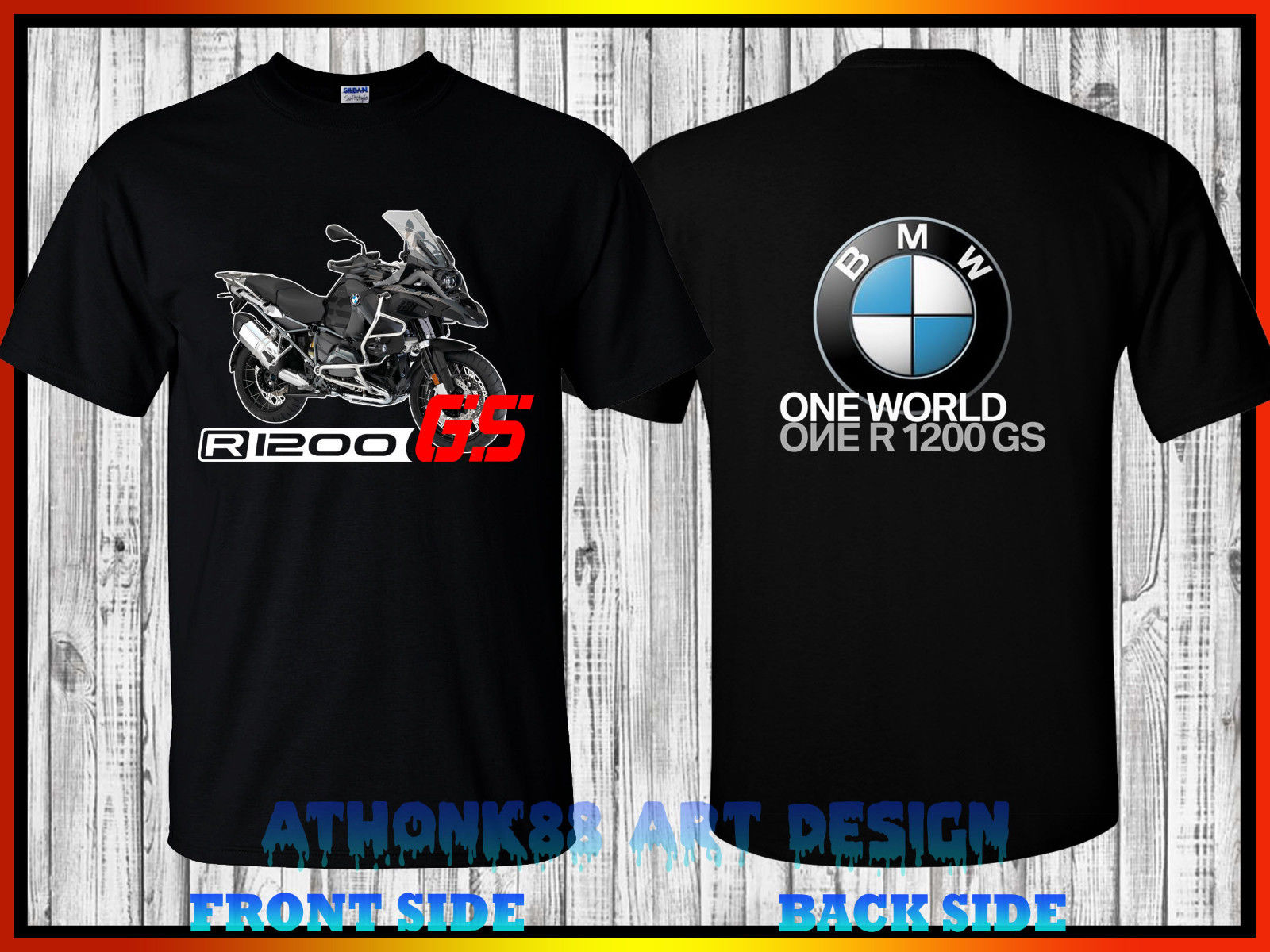 bmw gs one world one gs t shirt 2017 bmw r 1200 gs. Black Bedroom Furniture Sets. Home Design Ideas