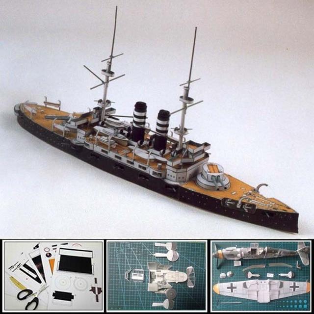 US $9 88  3d Paper Model battleship Japanese battleship MIKASA simulation  toys1:400 scale 33CM Long 3d puzzles handmade decoration models-in Model