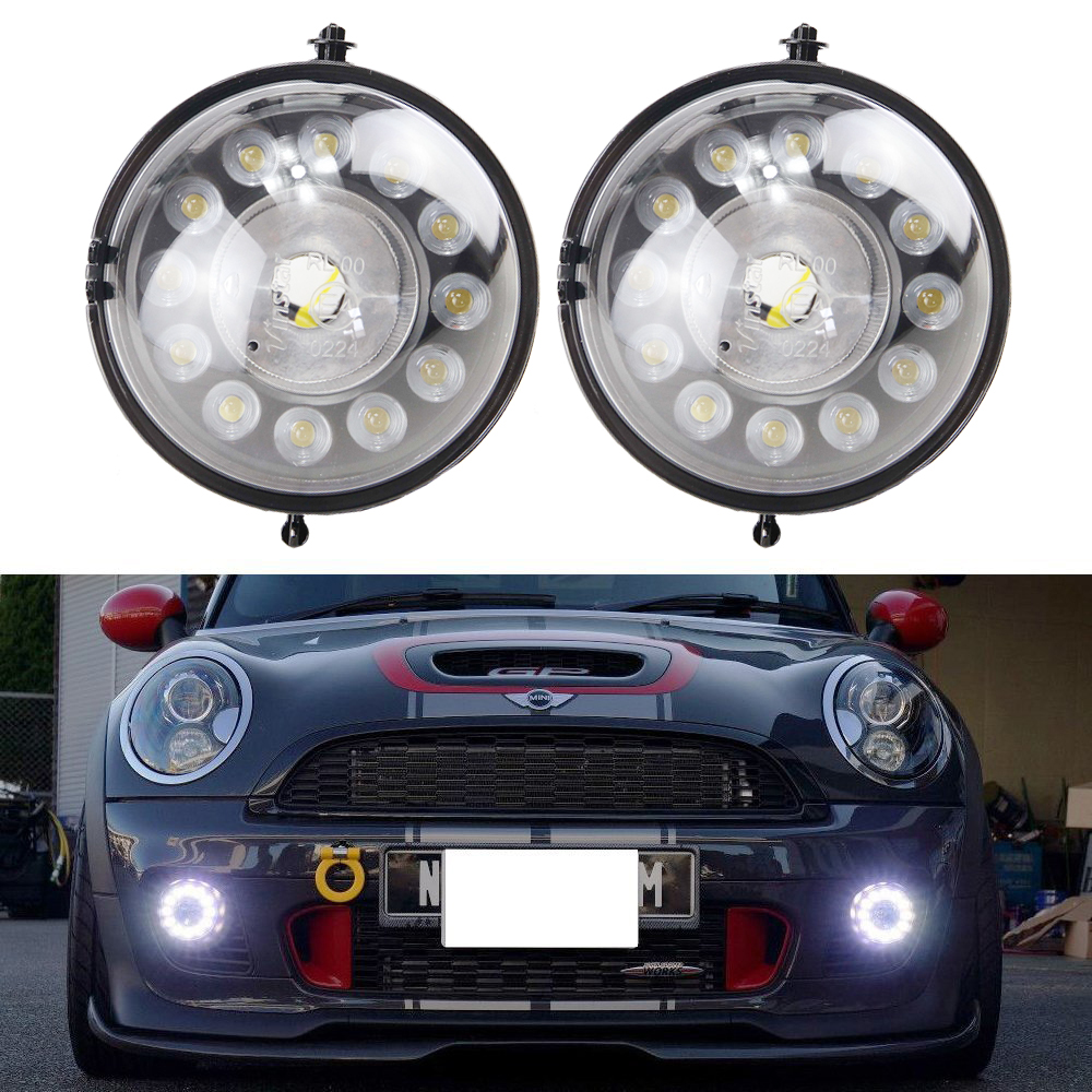 12V 12W Waterproof Drl Led Daytime Running Light for Mini COOPER R55 R56 R57 R58 R59 R60 R61 12V Car Fog Drl Parking Daylight car drl kit for volkswagen magotan 2007 2011 daytime running light bar daylight fog lamps bulbs for car 12v vw led drl