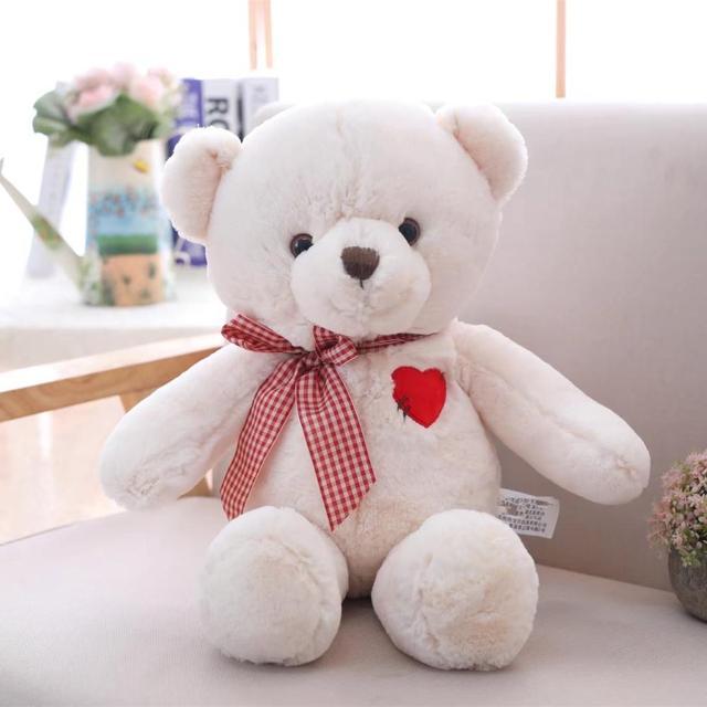 1pc 50cm Lovely Teddy Bear Plush Toys for Girls Stuffed Animal Bear with Heart Kawaii Birthday Gift Toys for Children Kids Gift