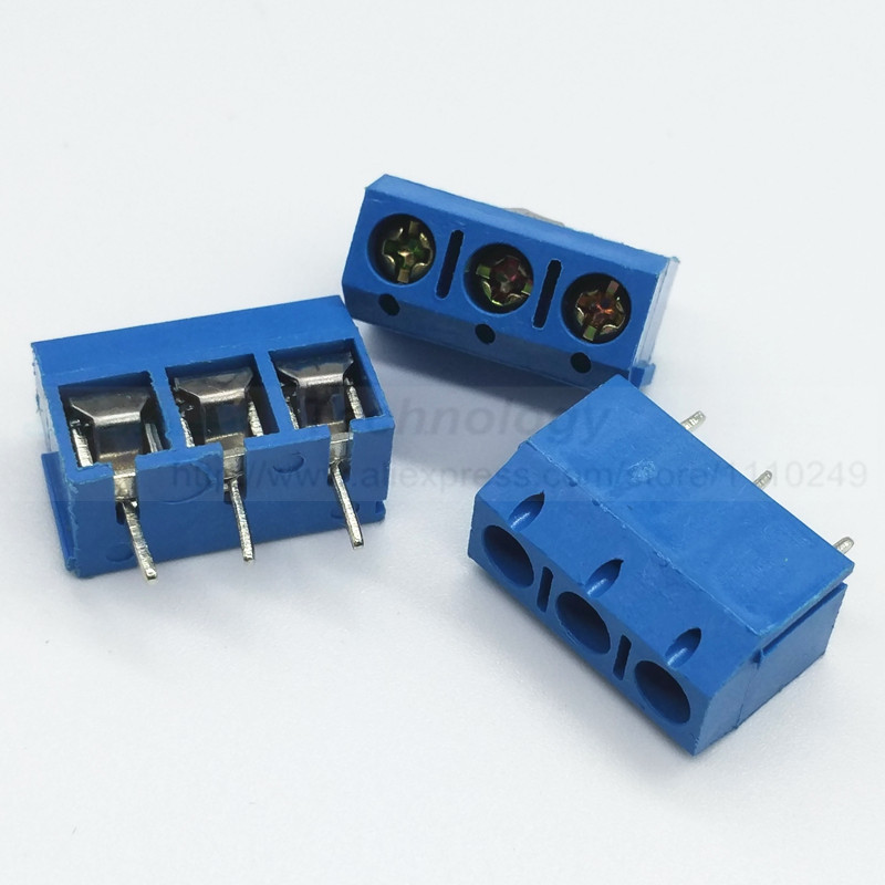 20PCS/lot 5 mm KF301 - 3P MF 301 - 3 Pin Can be spliced Screw Terminal Block Connector 5mm Pitch