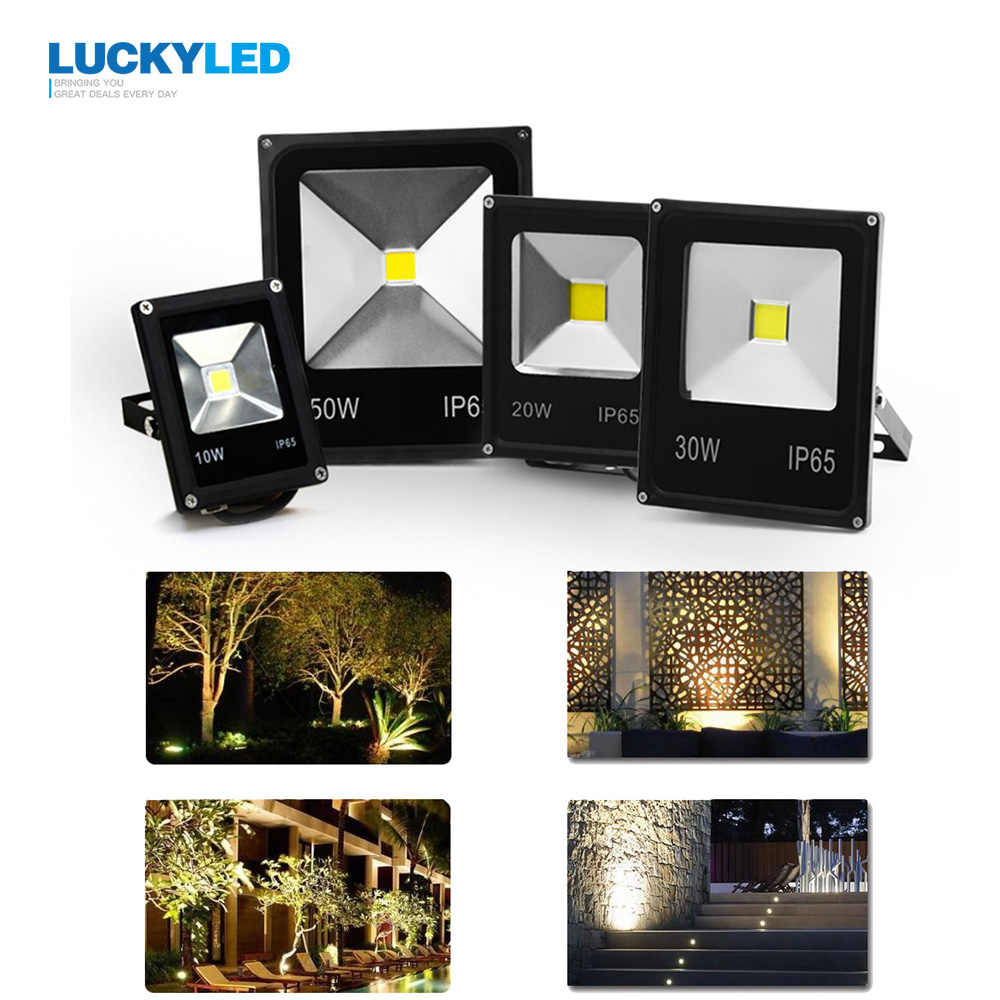 LUCKYLED Led Floodlight 10W 20W 30W 50W Outdoor Spotlight Flood Light AC 220V 240V Waterproof IP65 Professional Lighting Lamp