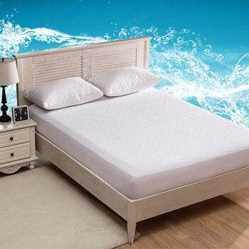 Cubierta de colchón doble/completa/Queen/King, cubierta de cama Impermeable, Sábana de felpa, protector...