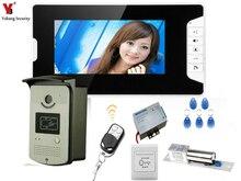 YobangSecurity Video Intercom 7 Inch Video Door Phone Doorbell Home Security Camera Monitor System with Door Lock Remote Control