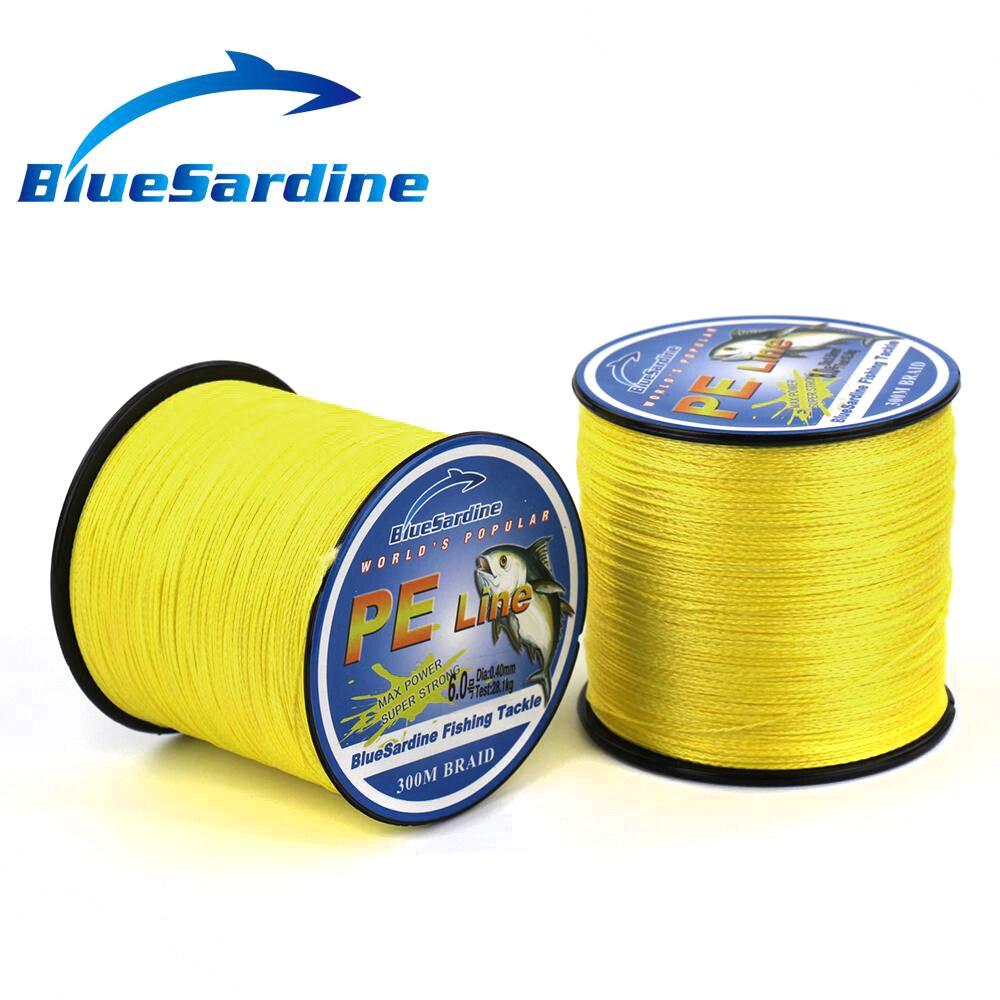BlueSardine 300M Multifilament PE Örgülü Balıqçılıq Xətti - Balıqçılıq - Fotoqrafiya 2
