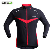 WOSAWE Black Winter Thermal Fleece Windproof/waterproof Long Sleeve Cycling Jersey Clothing Wear Reflective cycling jacket wosawe cycling jersey sets winter thermal sports pro jersey triatlon bike bicycle clothing jackets pants men women