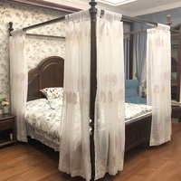 Европа вышитые полог плетения Шторы заказ утолщаются качество украшения Москитная посадки площади чистый постельные принадлежности