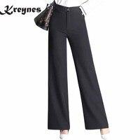 Suit pants Hot sale Wide Leg Pants Women Vintage Loose Plus Size High waist Soft Dance Pants Bell Bottom Casual Pantalon Female