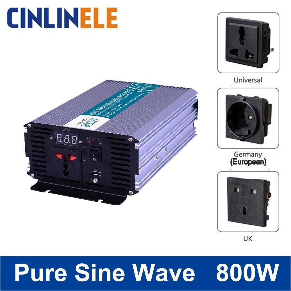 Smart Pure Sine Wave Inverter 800W CLP800A DC 12V 24V 48V to AC 110V 220V Smart Series Solar Power 800W Surge Power 1600W smart pure sine wave inverter 2000w clp2000a dc 12v 24v 48v to ac 110v 220v smart series solar power 2000w surge power 4000w