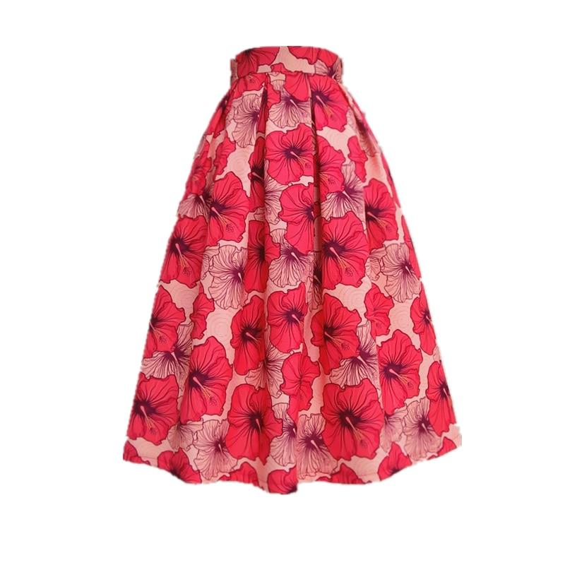 Новое поступление Для женщин сезон: весна–лето Печать Сладкий средней длины Высокая талия юбка трапециевидной формы могут быть настроены ...