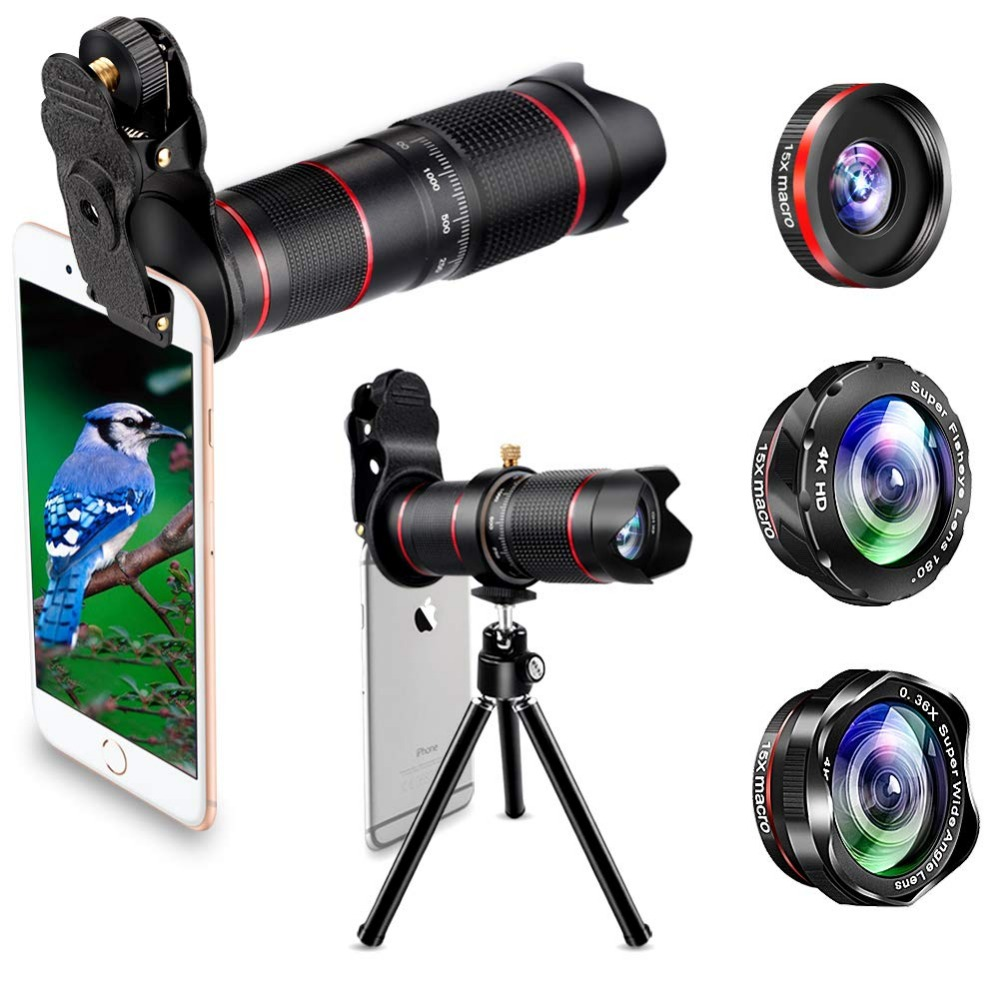 15X iPhone Camera Telephoto Lens kit Double Regulation Lens Attachment with Tripod and Universal Clip Compatible with iPhone samsung