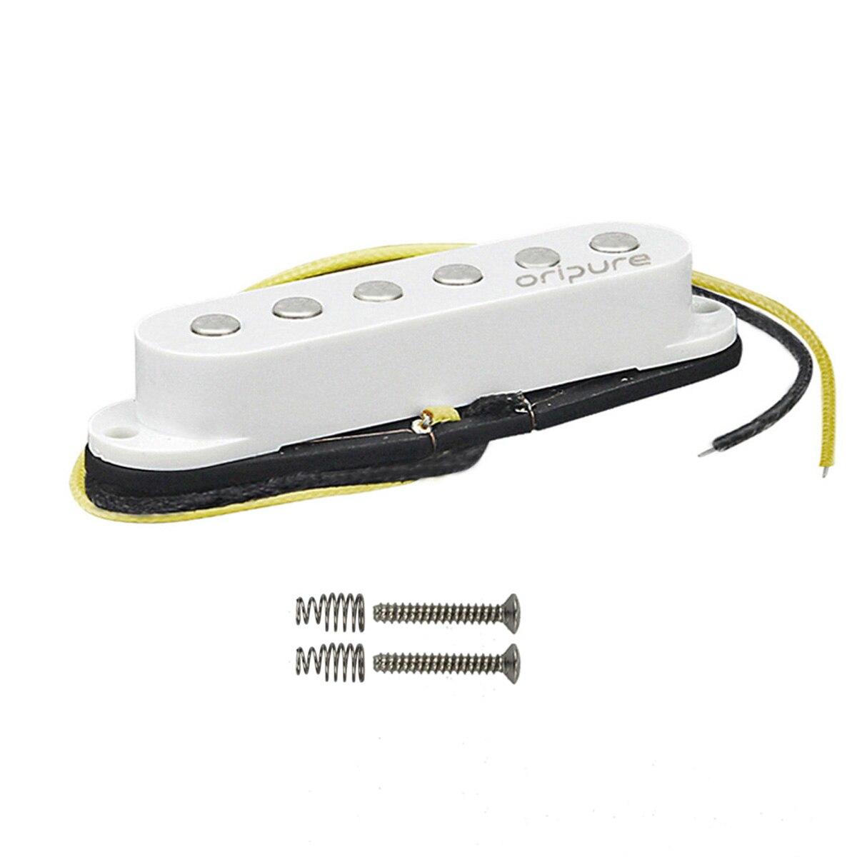 OriPure 1 pièces Vintage Alnico 5 pick-up simple bobine pick-up plat pour guitare électrique Strat, cou/milieu/pont pick-up pour choisir