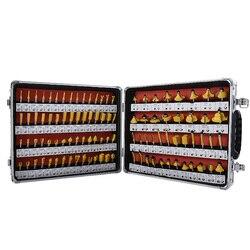 Nouveau 100 pièces/ensemble carbure de tungstène routeur Bit ensemble travail du bois fraise Machine de découpage fraise tête fraise RC-100
