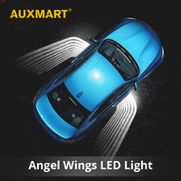 AUXMART 1 Pair Angel Wings Car Welcome Light Shadow Light Projector Car LED Door Warning Light Lamp for BMW Toyota Volkswagen