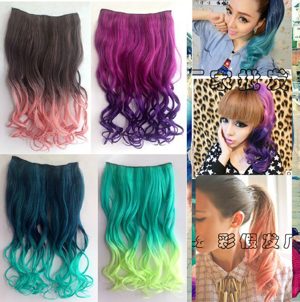 26 Enstyle Supreme Neon Tangle Curly Fashion 9 Color Hair Extension