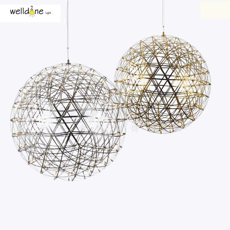 AC110-240V Modern Pendant Lamp Stainless Steel Creative Circle Pendant Light LED Firework Lamp Ball Restaurant Lamparas Lustre zg9048 pendant light ac 110 240v