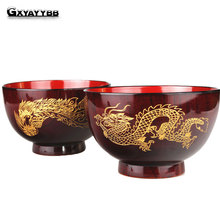 GXYAYYBB 1PC Chinese Natural Jujube Wood Hand-Made Chinese Style  Round  Salad Bowl  Fruit Snack Bowl  Lunch Box  Kitchen Tool