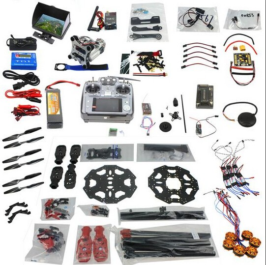 F07807-E Full Set 6-axis Aircraft Kit Helicopter Tarot 680PRO Frame APM 2.8 Flight Control AT10 Transmitter with FPV function tarot tl68b14 6 axis aircraft hexcopter fy680 fy650 inverted battery rack ship with tracking number