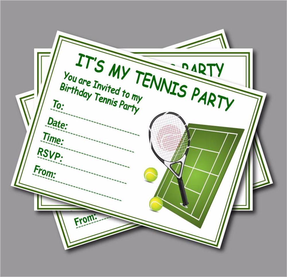 Tennis Party Invitation Gallery - Party Invitations Ideas