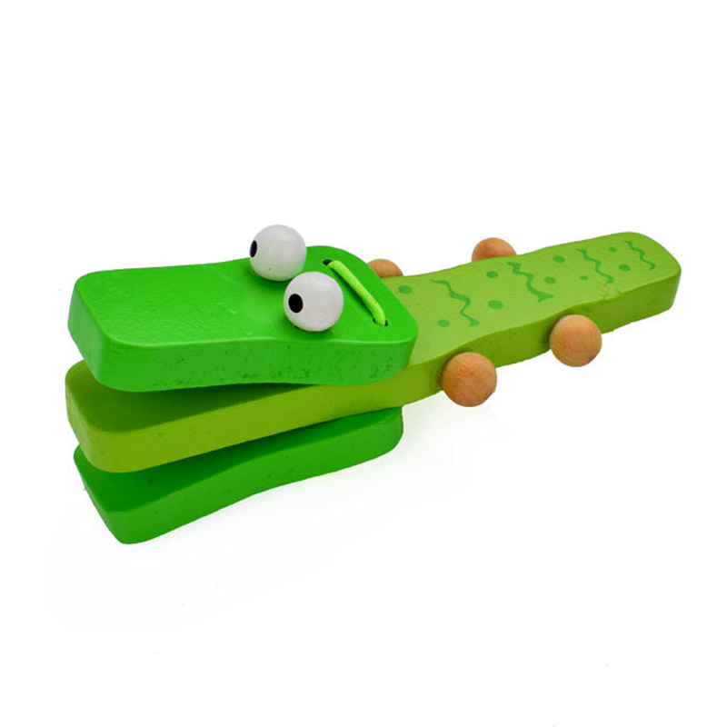 Montessori Toys Educational Wooden Toys For Children Early Learning Kids Intelligence Crocodile Ring Board Toy