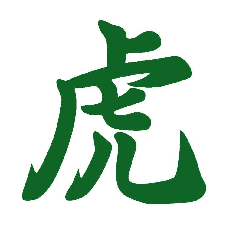EmpireYing 3 boyutları 8 renkler çin Kanji sembolü güçlü vahşi kaplan kral hayvanlar araba Sticker dekor yansıtıcı vinil çıkartmaları