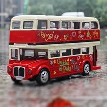 1:28 большой размер Сплава модели автомобиля Роскошные экскурсии туризм прокат Двойной слой Автобус металлический материал Музыкальный Отступить Ребенка toys