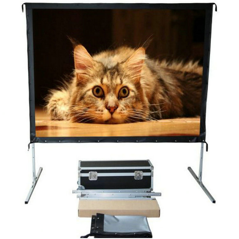 VIVICINE Quick Folding Screen with Flight Case 4:3 100inch 200inch 250inch Front Rear Projection Screen Fast Fold Beamer Screen 189 16 10 dual vision heavy duty deluxe fast fold replacement front and rear projection screen