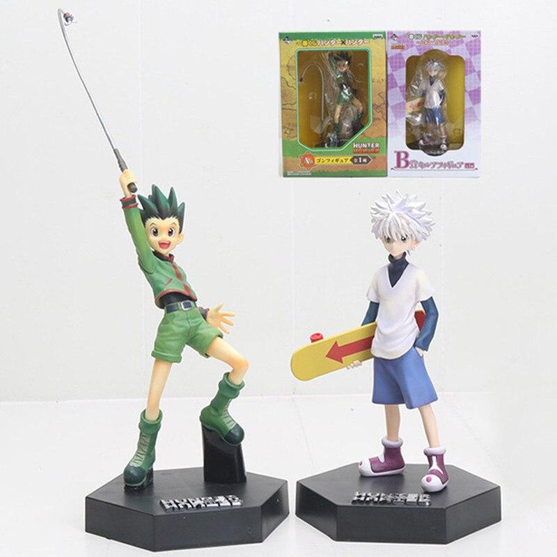 Anime Hunter X Hunter Gon Freecss Kirua Zoldyck Action PVC Figure Collection Modèle Jouets Brinquedos Enfants Cadeaux L1698