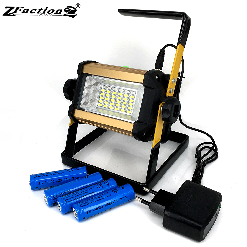 Yupard Searchlight Flood Light Spotlight Brightness 100w 50w Lamp Flashlight Outdoor Camping Rechargeable 18650 Battery Charger High Quality And Low Overhead Led Lighting