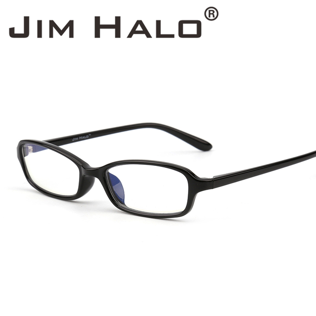 3876ab5c91fb Jim Halo Anti Blue Light Blocking Filter Reduces Digital Eye Strain Clear  Regular Computer Gaming Glasses Improve Comfort