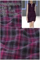 Customized 150cm Pink Tartan Lattic Plaid Cotton Chiffon Satin Silk Gauze Cloth Fabric Shirt Coat Skirt