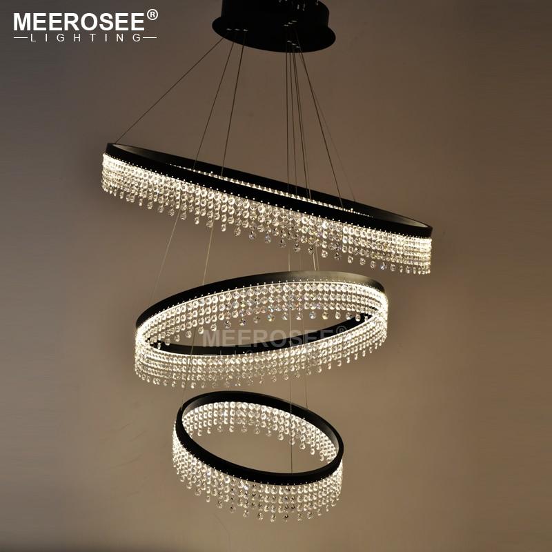 Nový design LED prstenový lustr osvětlení křišťálovou lampu LED závěsná žárovka pro jídelnu lamparas křišťálové osvětlení pro domácnost