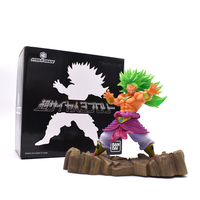 Dragon Ball Z Super Saiyan 3 Broli Brolly Contain Base PVC Figure Toy For Collection Free Shipping