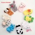 Brinquedo Dedo família Velet Favor Do Bebê Fantoche de Dedo De Pelúcia Brinquedos Bonecas Animal Dos Desenhos Animados Do Miúdo Das Meninas Dos Meninos da Criança Educacional Toy Mão
