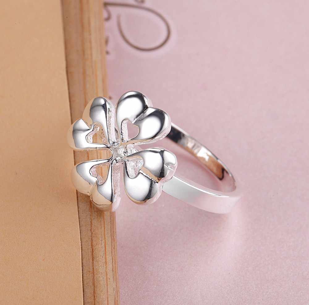 جميلة زهرة الجملة 925 مجوهرات الفضة مطلي خاتم ، مجوهرات الأزياء خاتم للنساء ،/MKIGSBUP XZKCQAGU