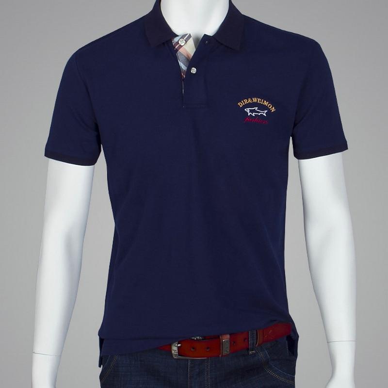새로운 모델 2018 새로운 패션 브랜드 의류 남성 폴로 셔츠 여름 스타일 순수 컬러 짧은 소매 우리 polos 상어 크기 S-10XL