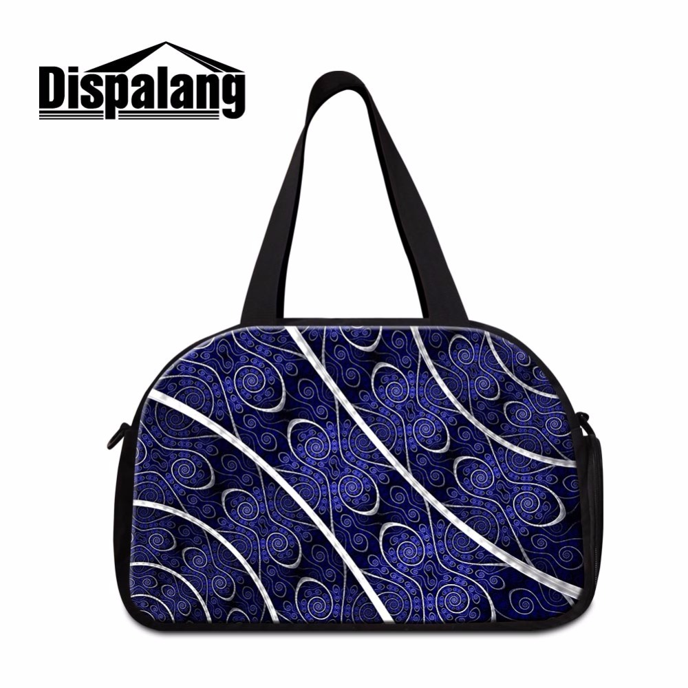 Dispalang Girly Floral Travel Bag Flowre Printing womens workout duffle bags  on sale Branded Weekend Bag Sporty bog for Girls 93e843e92c51b