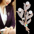 Large Brooches For Women Jewelry Wholesale Rose Gold Plated AAA Zircon Butterfly Brooch Wedding Party Gift Hot Sale 2016 New