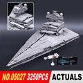 LEPIN 05027 3250 Unids Star Wars Emperador combatientes nave Modelo Kit de Construcción de Ladrillos de Juguete Bloques Compatible 10030