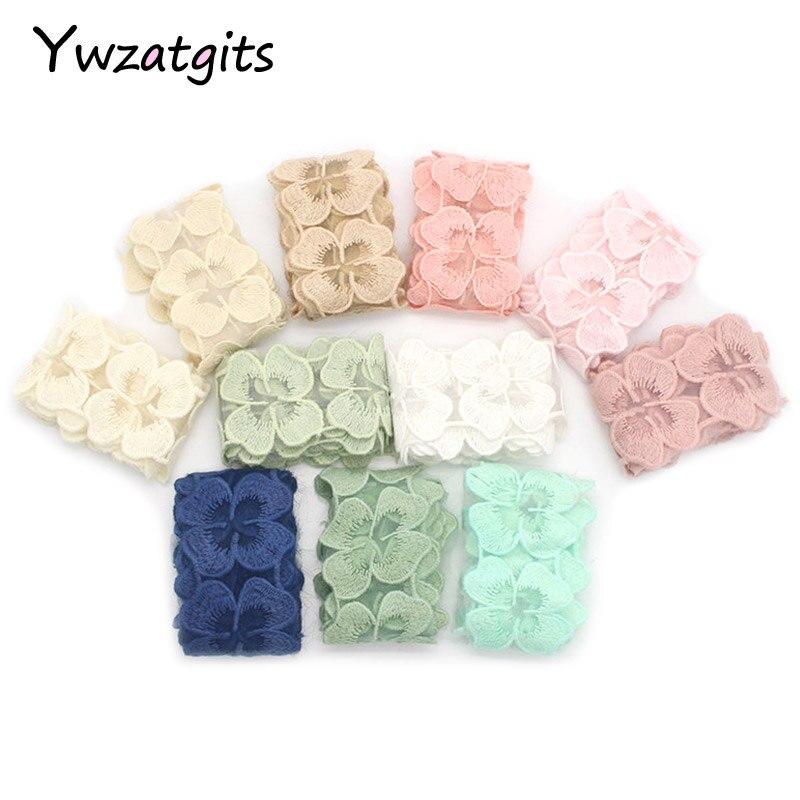 Ywzatgits 5 см хлопок вышитые аппликация цветок кружево ленты головной убор одежды DIY интимные аксессуары 1 ярд/лот 17015081 (5D1y)