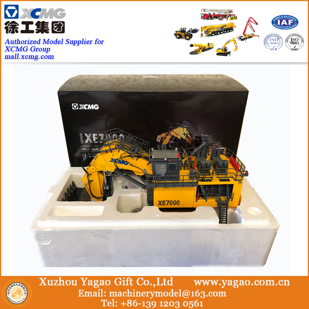US $450 0 |2018 New Launch 1:50 XCMG XE7000 Mining Excavator, 700 Tons  Excavator Replica, Collection, Construction Model, fast free ship-in Model