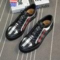 Новый 2017men узелок холст обувь плед печати плоские повседневная обувь бизнес обувь размер 39-44
