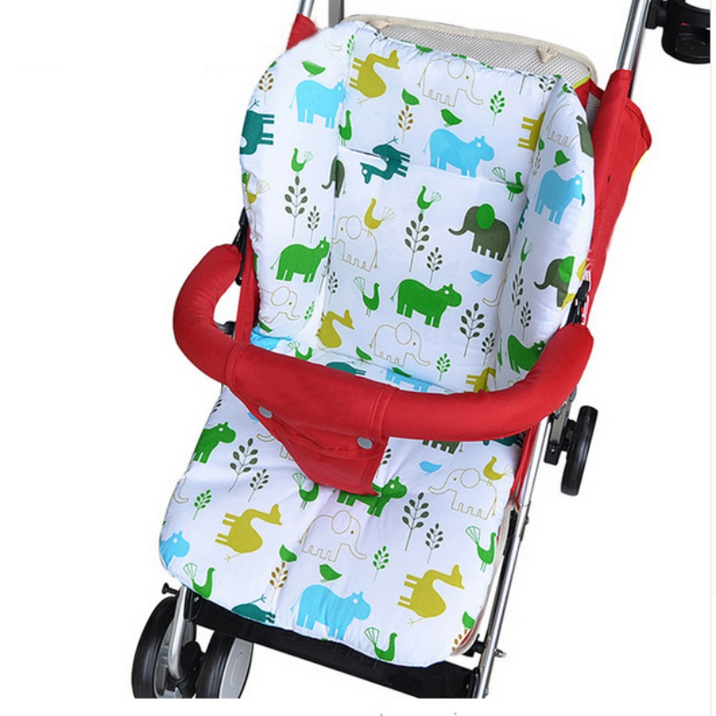 Hot 2016 New Thick Warm Waterproof Cotton Newborn Cute Cartoon Baby Stroller Seat Pad Baby Stroller Accessories Chair Cushion Activity & Gear