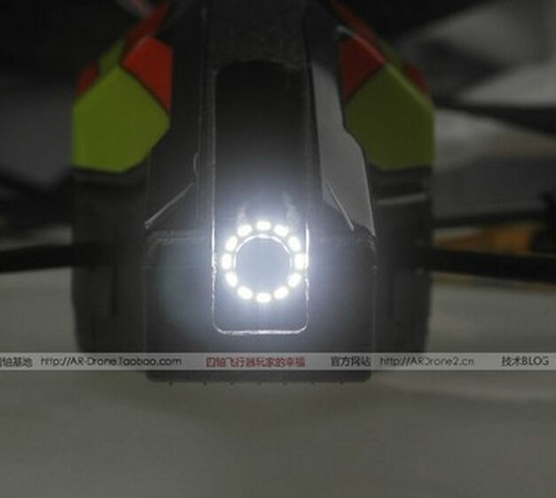 LED light Super Bright Headlight Spotlight, Parrot AR.Drone 2.0 App-Controlled