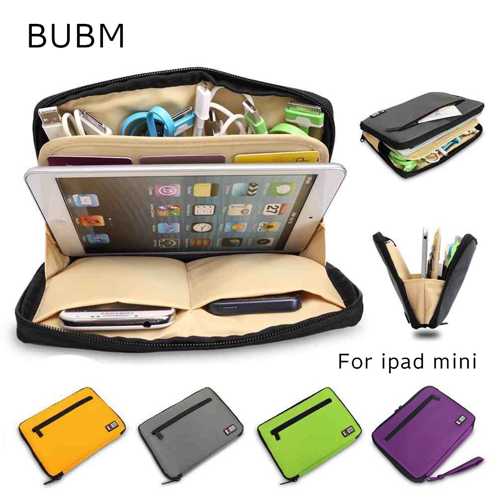 2017 Hot Brand BUBM  Storage Bag For ipad mini 1/2/3/4, Case For 7 inch MID Tablet, Multifunction Pouch. Free Shipping. bubm professional dj bag for pioneer