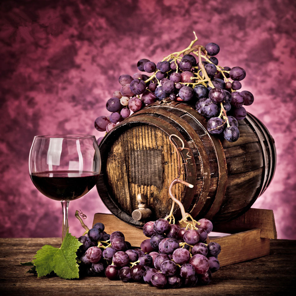 5d Diy Diamond Painting Fruit Still Life Home Decorative Diamond Embroidery  Painting Drill Strass Mosaic Gift Red Wine Grapes