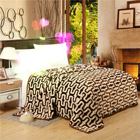 Brief Fashion Style Printed Curve Design Blanket On The Bed Throws For Sofa Twin Full Queen