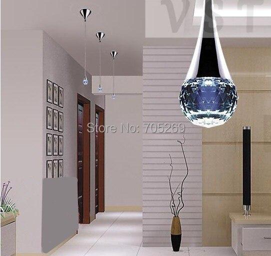 ФОТО NEW LED Pendant Light Fashion Crystal Pendant Light lights modern crystal lighting Cool white, warm white