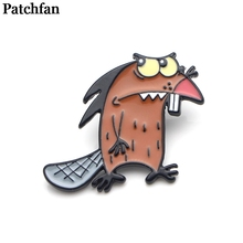 Patchfan Angry Beavers Zinc alloy pins badges para shirt bag clothes cap backpack shoes brooches medals decoration A2024