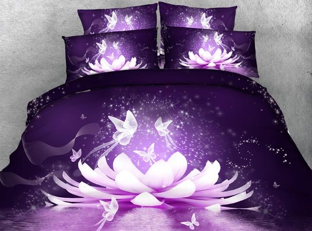3pcs Mystic Buddha Lotus Flower Bedding Set Single Full Queen Super